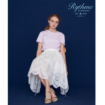 組曲 / クミキョク 【Rythme KUMIKYOKU】エンブロイダリースカラップレース スカート