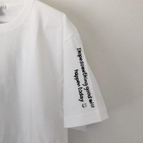 【手刺繍】35文字までフリー!好きなフレーズを身につけようTシャツ 大切な人へのプレゼントにも☆心を込めて刺繍します!