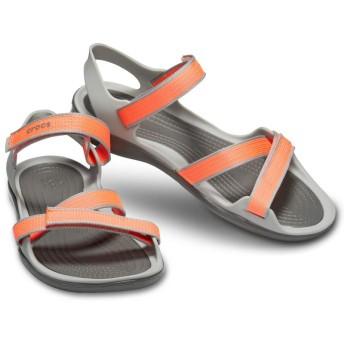 【クロックス公式】 スウィフトウォーター ウェビング サンダル ウィメン Women's Swiftwater Webbing Sandal ウィメンズ、レディース、女性用 オレンジ/オレンジ 21cm,22cm,23cm,24cm,25cm sandal サンダル 30%OFF