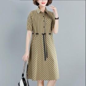 3色入 レディース 大きいサイズ 通勤 OL オフィス 春 夏 シンプル 旅行 女性 半袖 ワンピ 服 ファッション ゆったり ショート丈ワンピー