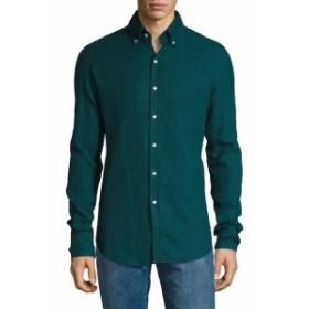 マイケルバスティアン Men Clothing Button-Down Collar Sportshirt