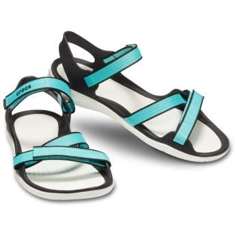 【クロックス公式】 スウィフトウォーター ウェビング サンダル ウィメン Women's Swiftwater Webbing Sandal ウィメンズ、レディース、女性用 ブルー/青 21cm,22cm,23cm,24cm,25cm sandal サンダル 20%OFF