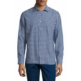 ジャックス Men Clothing Gingham Spread Collar Sportshirt