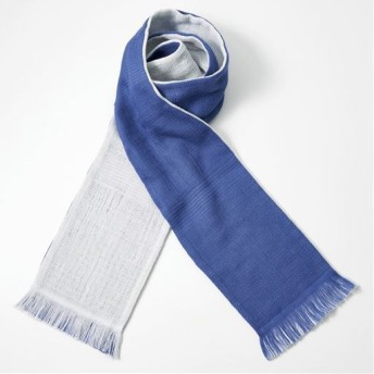 今治産タオルマフラー(内蔵できる袋付き) - セシール ■カラー:ネイビー/ライトグレー