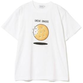 【30%OFF】 ビームス メン BEAMS / SNEAK SNACKS プリント Tシャツ メンズ WHITE M 【BEAMS MEN】 【セール開催中】