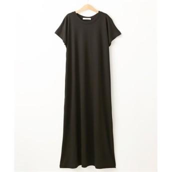 フレンチスリーブロング丈ワンピース (ワンピース),dress