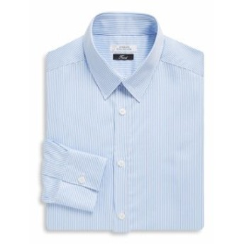 ヴェルサーチコレクション Men Clothing Fine Stripe Cotton Dress Shirt