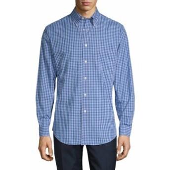 ブルックスブラザーズ Men Clothing Mini Check Regent Cotton Sportshirt