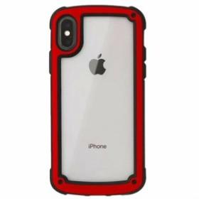 レッド iphoneXS MAXiphoneケース シンプル バイカラー カラーフレーム 防塵 保護 フィット感 滑らない