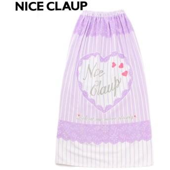 NICE CLAUP ナイスクラップ 100cm ラップタオル パープル 女の子 ビーチタオル マキタオル 34952532GR
