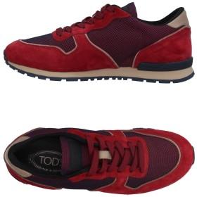 《期間限定セール開催中!》TOD'S メンズ スニーカー&テニスシューズ(ローカット) レッド 5 革 / 紡績繊維