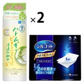 肌ラボ 極水ハトムギ+浸透化粧水 400mL +シルコットうるうるスポンジ仕立て 1箱(40枚入)