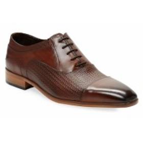 ウォール + ウォーター メンズ シューズ オックスフォード 革靴 Embossed Leather Oxfords