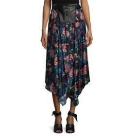 ジルスチュアート レディース スカート Crystal Leather Placket Skirt