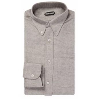 トムフォード Men Clothing Cotton Textured Dress Shirt