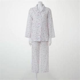 【レディース】 二重ガーゼシャツパジャマ(綿100%・日本製) - セシール ■カラー:ピンク ■サイズ:M,L,LL,S