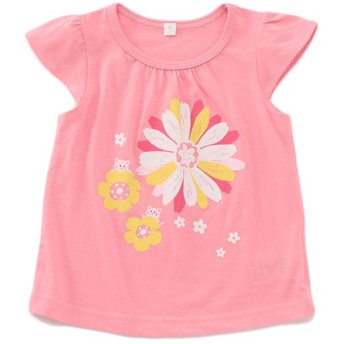 トップバリュベストプライス Tシャツ 花 ピンク 女の子 ベビー 半そでTシャツ BT126AF6229