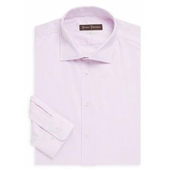ヒッキーフリーマン Men Clothing Classic-Fit Striped Dress Shirt