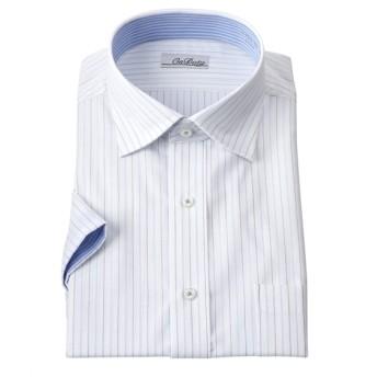 消臭芯地使用別生地配色デザイン形態安定半袖ワイシャツ(レギュラーカラー) (ワイシャツ)