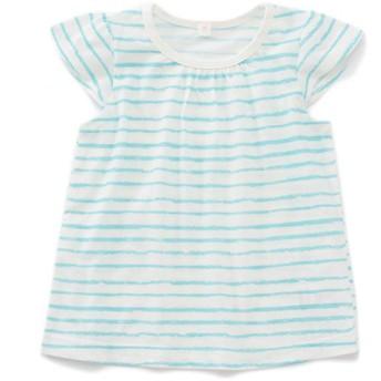 トップバリュベストプライス Tシャツ ボーダー サックス 女の子 ベビー 半そでTシャツ BT126AF6239