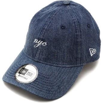 ニューエラ キャップ NEWERA CAP 9THIRTY ミニロゴ クロスストラップ MINI NYC SCRIPT メンズ レディース 帽子 WASDEN WHT ブルー系 12048734 SS19