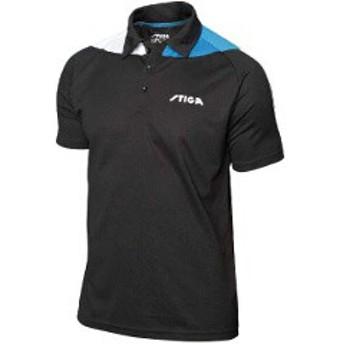 スティガ STIGA 卓球ユニフォーム パシフィックシャツ [サイズ:M] [カラー:ブラック×ブルー] #1854331605 PACIFIC SHIRT