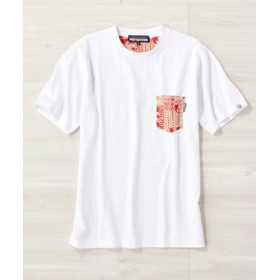 REYN SPOONER サーフポケットTシャツ メンズ ホワイト*ベージュ