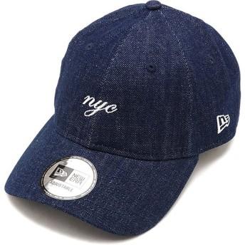 ニューエラ キャップ NEWERA CAP 9THIRTY ミニロゴ クロスストラップ MINI NYC SCRIPT メンズ レディース 帽子 INDEN WHT ブルー系 12048737 SS19