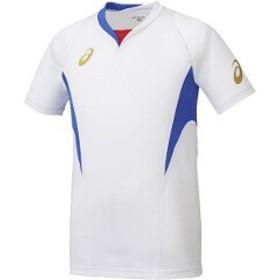 アシックス ASICS サッカー用 ゲームシャツHS XS1143 [カラー:ホワイト×ブルー] [サイズ:M] #XS1143 スポーツ・アウトドア