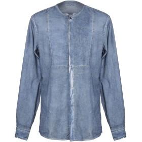 《期間限定セール開催中!》PAOLO PECORA メンズ シャツ ブルー 39 コットン 100%