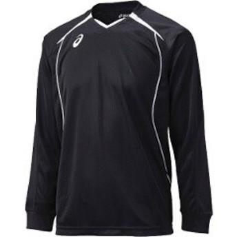 アシックス ASICS バレーボール用 プラシャツHS XW6607 [カラー:ブラック×ホワイト] [サイズ:M] #XW6607 スポーツ・アウトドア