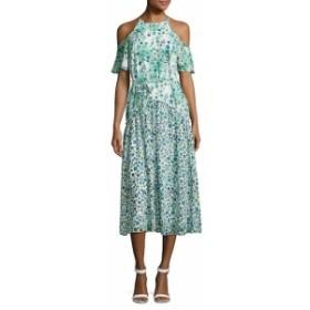 ドナモーガン レディース ワンピース Floral-Print Cold-Shoulder Dress