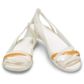 【クロックス公式】 クロックス イザベラ ワラチェ 2.0 フラット ウィメン Women's Crocs Isabella Huarache II Flat ウィメンズ、レディース、女性用 ホワイト/白 21cm,22cm,23cm,24cm,25cm flat フラットシューズ バレエシューズ ぺたんこシューズ