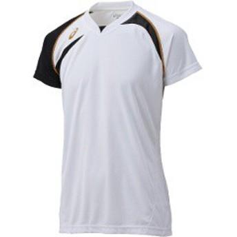 アシックス ASICS バレーボール用 ゲームシャツHS XW1318 [カラー:ホワイト×ブラック] [サイズ:150] #XW1318