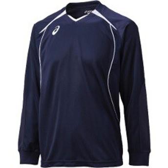 アシックス ASICS バレーボール用 プラシャツHS XW6607 [カラー:ネイビー×ホワイト] [サイズ:XO] #XW6607
