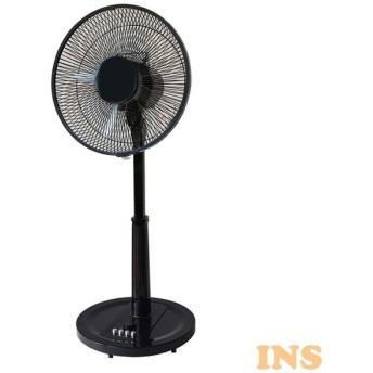 リビングメカ扇風機 フラットガード 黒 ブラック KI-1743(K) TEKNOS (D)(B)