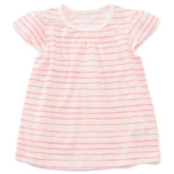 トップバリュベストプライス Tシャツ ボーダー ピンク 女の子 ベビー 半そでTシャツ BT126AF6239