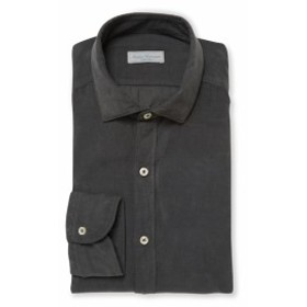 アンティカキャメリア Men Clothing Spread Collar Dress Shirt