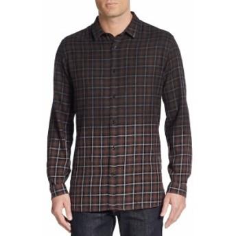 ザ クープルズ Men Clothing Ombré Plaid Cotton Sportshirt