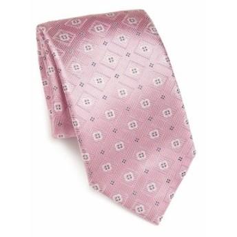サックスフィフスアベニュー メンズ ネクタイ Floral Square Tie