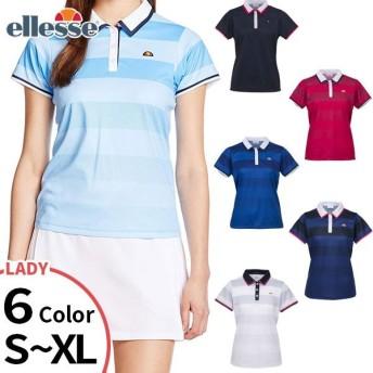 エレッセテニス レディース テニス バドミントンウェア トップス ポロシャツ 半袖 ゲームシャツ ETS0500L