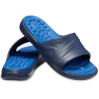 【クロックス公式】 リバイバ スライド Reviva Slide ユニセックス、メンズ、レディース、男女兼用 ブルー/青 22cm,24cm,25cm,26cm slide スライドサンダル スポーツサンダル シャワーサンダル サンダル