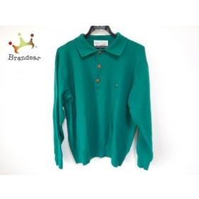 アイスバーグ ICEBERG 長袖ポロシャツ サイズ4 XL メンズ グリーン ニット 新着 20190516