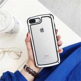 ホワイト iphoneXRiphoneケース シンプル バイカラー カラーフレーム 防塵 保護 フィット感 滑らない