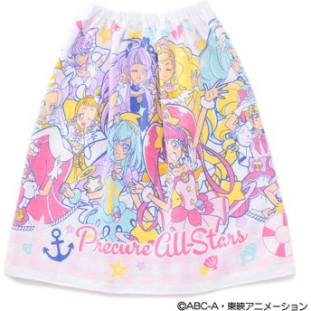 BANDAI バンダイ プリキュアオールスターズ巻きタオル60cm ピンク 女の子 ビーチタオル