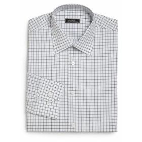 サックスフィフスアベニュー Men Clothing Regular-Fit Checked Dress Shirt