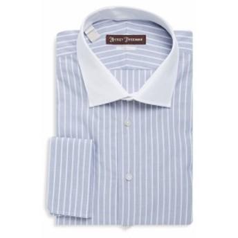 ヒッキーフリーマン Men Clothing Striped Cotton Dress Shirt