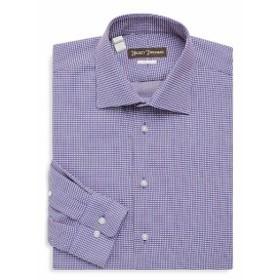 ヒッキーフリーマン Men Clothing Two-Tone Cotton Dress Shirt
