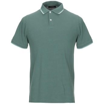 《期間限定セール開催中!》FALCONE メンズ ポロシャツ グリーン 56 コットン 100%