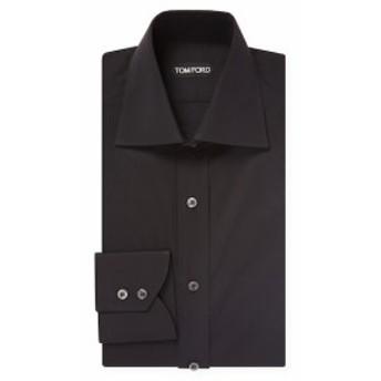 トムフォード Men Clothing Solid Cotton Barrel Cuffs Dress Shirt